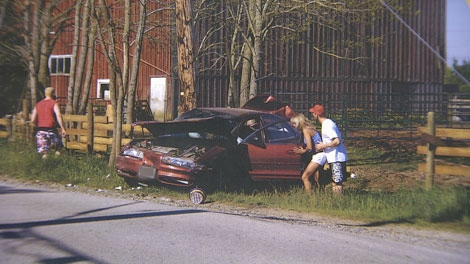 The aftermath of the May 2008 crash that killed four-year-old Alexa Middelaer in Delta, B.C. (CTV)