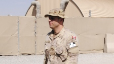 Canadian Capt. Robert Semrau, who has pleaded not guilty to second-degree murder in the 2008 shooting death of a wounded Afghan insurgent, attends his court martial at Kandahar Airfield, Wednesday, June 16, 2010. (Tara Brautigam / THE CANADIAN PRESS)