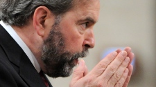 NDP Leader Tom Mulcair asks a question during Question Period in the House of Commons on Parliament Hill in Ottawa on Wednesday, May 16, 2012. (Sean Kilpatrick / THE CANADIAN PRESS)