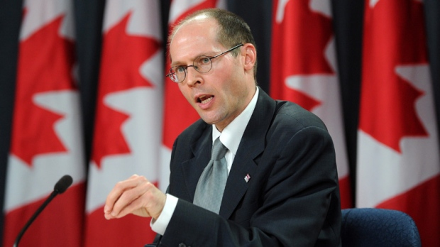 United Nations Special Rapporteur on the Right to Food Olivier De Schutter speaks to reporters during a press conference at the National Press Theatre in Ottawa on Wednesday, May 16, 2012. (Sean Kilpatrick / THE CANADIAN PRESS)