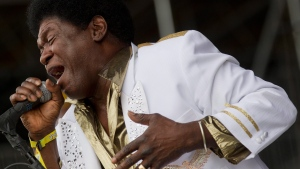 Charles Bradley performs during the Bonnaroo Music and Arts Festival in Manchester, Tenn., Saturday, June 9, 2012. (AP Photo/Dave Martin)