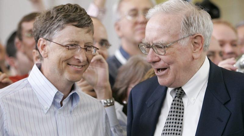 Microsoft co-founder Bill Gates and billionaire investor Warren Buffett are seen together on May 6, 2007. (AP / Nati Harnik)