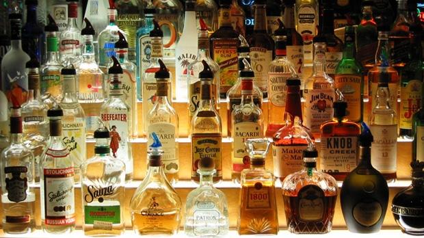 Bar Shelf of Alcohol