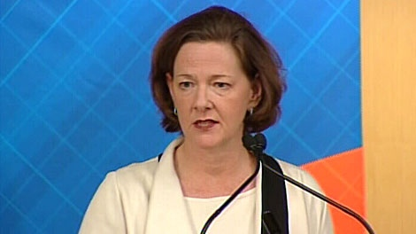 Premier Alison Redford re-stated Thursday that the province will not be investing $100 million in the downtown arena project. May 17.