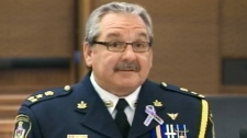 Woodstock Police Chief Rod Freeman speaks in Ottawa, Ont. on Thursday, May 17, 2012.