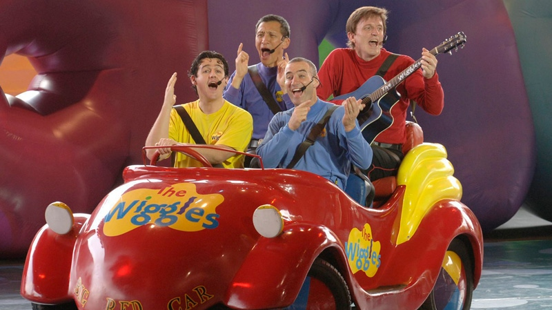 The Australian foursome 'The Wiggles' performs for guests in their 'Big Red Car' at Disney-MGM Studios at Walt Disney World Resort in Lake Buena Vista, Fla., Thursday, Aug. 31, 2006. (AP / Disney World, Gene Duncan)