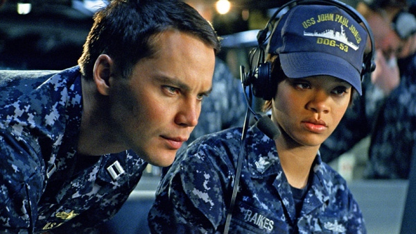 Taylor Kitsch, left, and Rihanna in a scene from Universal Pictures Canada's 'Battleship.'