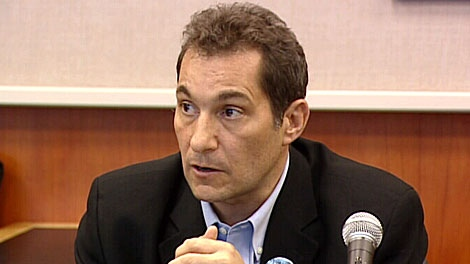 """Dr. Mark Joffe, AHS senior director of infection, prevention and control, speaks at a press conference Friday. An investigation is underway after a patient at the Royal Alexandra Hospital died after picking up a """"multi-drug-resistant bacteria"""" believed to have been brought to the city from an overseas traveler. May 18."""
