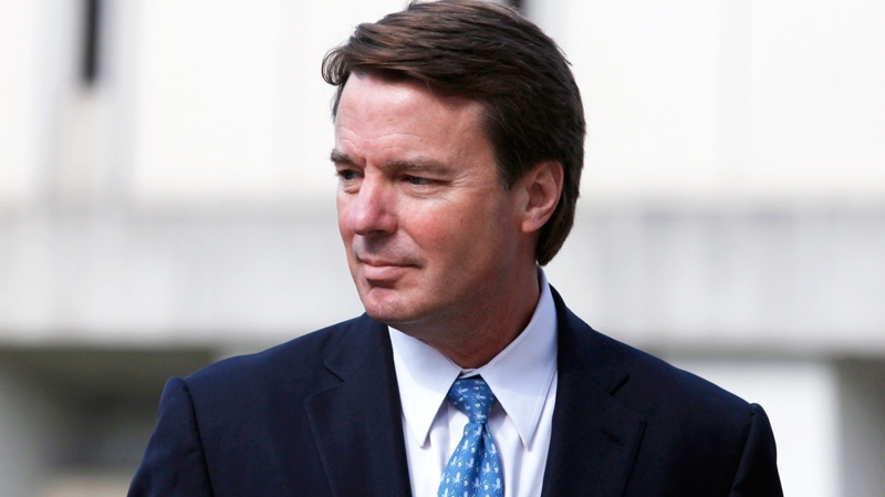 John Edwards enters the federal courthouse before jurors starts deliberations in his campaign finance corruption trial in Greensboro, N.C., Friday, May 18, 2012. (AP / The News & Observer, Shawn Rocco)