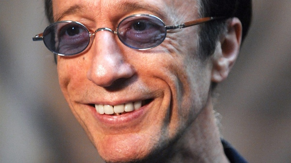 Bee Gees singer Robin Gibb is seen as he talks with journalists at the European Parliament in Brussels in this Wednesday April 11, 2007 file photo. (AP / Geert Vanden Wijngaert)