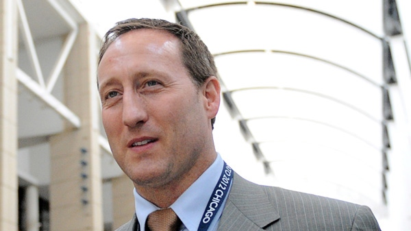 Minister of Defence Peter MacKay leaves after speaking to reporters at the NATO Summit in Chicago, Ill., on Sunday, May 20, 2012. (Sean Kilpatrick / THE CANADIAN PRESS)