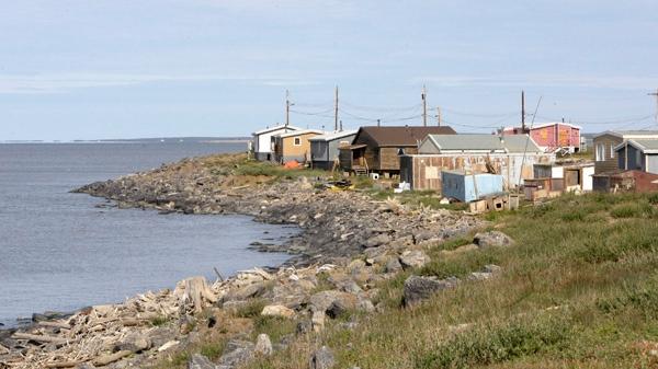 The hamlet of Tuktoyaktuk in the Northwest Territories is seen in this photo taken Saturday, Aug. 8, 2009. (AP / Rick Bowmer)