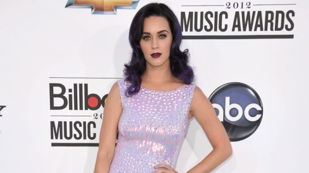 Katy Perry arrives at the 2012 Billboard Awards at the MGM Grand in Las Vegas on Sunday, May 20, 2012. (AP / John Shearer)