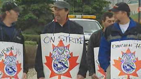 More than 300 CP workers walked off the job Wednesday morning in Manitoba.