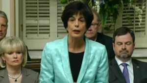 Michelle Courchesne says she is open to negotiations if students bring something concrete to the table (May 23, 2012)