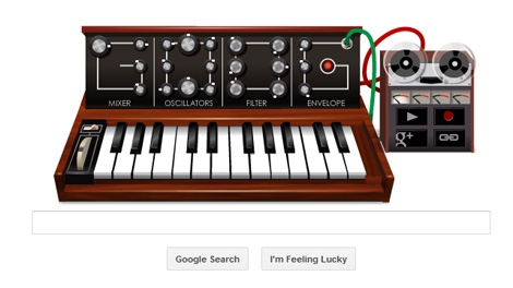 Google Doodle paid tribute to Moog synthesizer inventor on Wednesday, May 23, 2012.