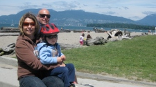 Kim Schick and her husband raise a two-year-old and a one-month-old in Vancouver. She says it�s almost impossible to have two kids and afford to live in the city. June 18, 2010. (Jenna Owsianik)