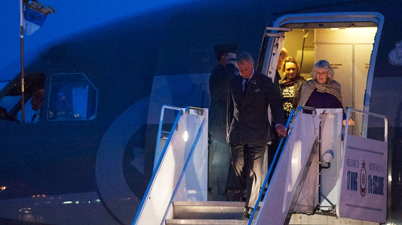 Prince Charles and his wife Camilla arrive in Regina, on Wednesday, May 22, 2012. (Liam Richards / THE CANADIAN PRESS)