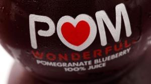 A bottle of POM Wonderful juice in Philadelphia, on Sept. 27, 2010. (Matt Rourke / AP)