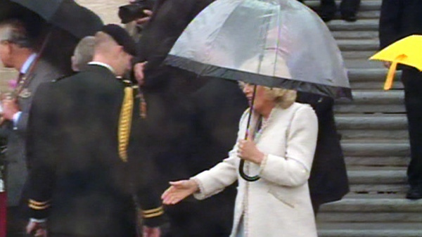 Camilla, Duchess of Cornwall, walks among royal fans in Regina, Sask., Wednesday, May 23, 2012.
