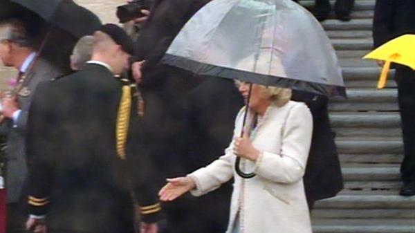 Camilla, Duchess of Cornwall, walks among royal fans in Regina, Sask., Wednesday, May 23, 2012.