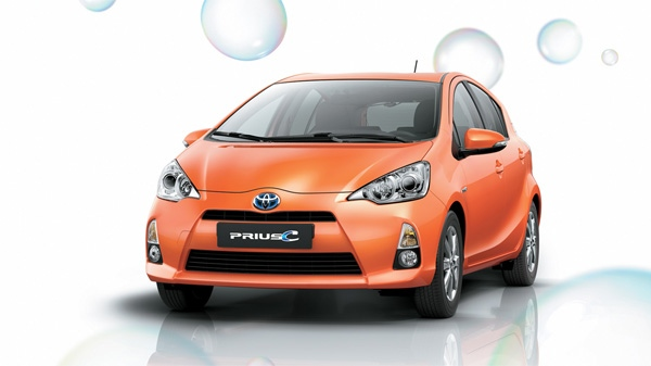 The 2013 Toyota Prius c is seen in this photo courtesy of Toyota.