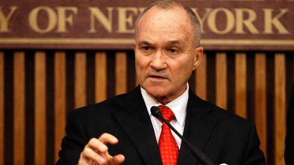 New York City police commissioner Raymond Kelly speaks during a news conference in New York
