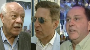 Tourism official Charles Lapointe, (left) Just for Laughs Festival's Andy Nulman and bar owner Ziggy Eichenbaum all expressed concern about the demonstrations on the local tourism industry.