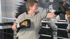 Gwen Spurll gets in a few good blows in a boxing ring. (May 24, 2012)