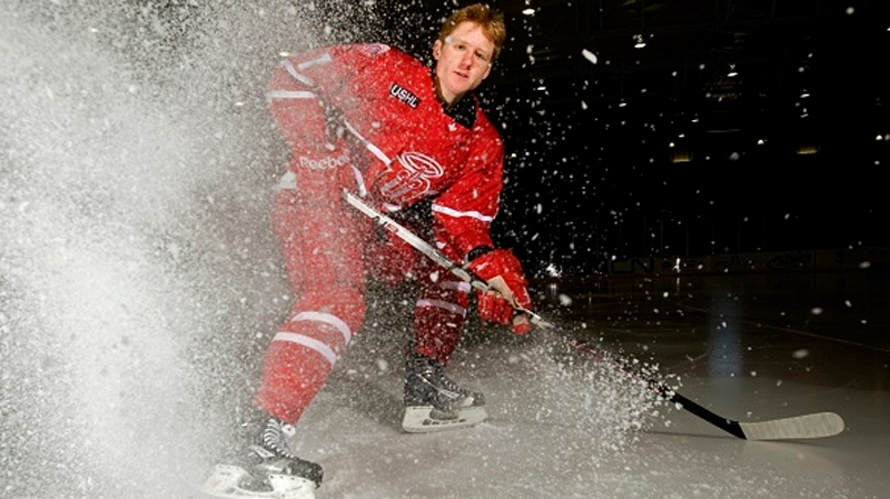 Pointe Claire's Mike Matheson could get plucked high in the upcoming NHL entry draft.  (Photo: Dubuquefightingsaints.com)