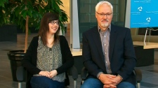 Double lung transplant recipient Helene Campbell appears on CTV's Canada AM on Friday, May 25, 2012.
