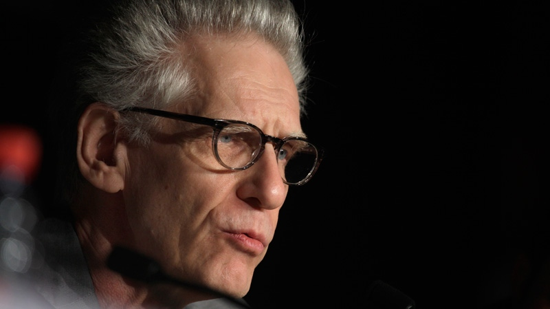Director David Cronenberg speaks during a press conference for Cosmopolis at the 65th international film festival, in Cannes, southern France, Friday, May 25, 2012. (AP / Virginia Mayo)