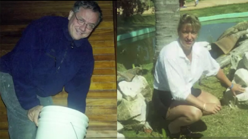 Police are hoping interview this unidentified man and woman in relation to the 2004 murder of Nadia Panarello. They are not considered suspects in the case.