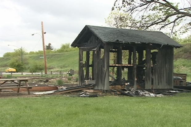 City Park Shed Goes Up In Flames Ctv Saskatoon News