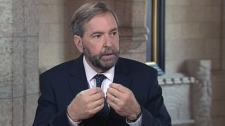 Opposition leader Thomas Mulcair appears on CTV's Power Play on Monday, May 28, 2012.
