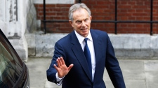 Tony Blair, ethics inquiry, London, protester, Leveson