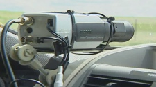 The Noise Snare is attached to the dash of a city vehicle and records vehicle sounds over 96 decibles.