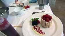 Jeff Hutcheson learns how to make strawberry mousse at the Fairmont Chateau Laurier in Ottawa, Monday, May 28, 2012.