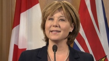 Premier Christy Clark responds to billionaire Richard Branson's invitation to kitesurf naked with him. May 29, 2012. (CTV)