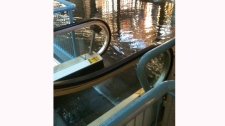 MyNews contributor Elaine H shared this photo of flooded at the Montreal Trust mall downtown.