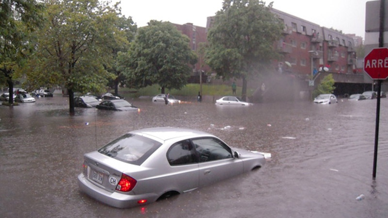 MyNews contributor Carys Harding-Jones sent this image of a flooded corner of Richmond and St. Jacques.