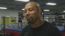 Otis Grant spends much of his time at the gym in Dorval (May 30, 2012)