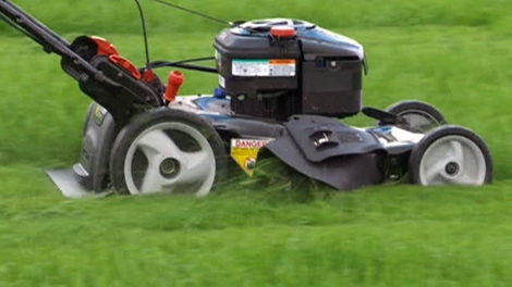 A lawn mower is shown in this file photo.