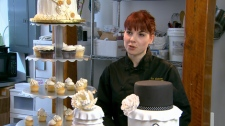 Tanya Muller of North Vancouver�s Le Gateau bake shop says cupcakes are a great way to cut your wedding cake costs in half. (CTV)