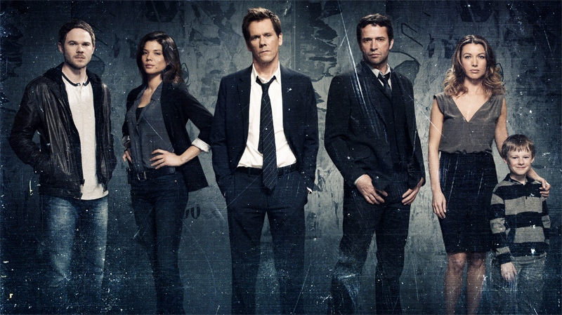The cast of the psychological thriller 'The Following,' starring Kevin Bacon as an FBI agent chasing a network of serial killers, which will air on CTV.