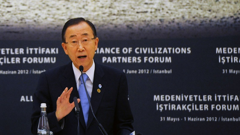 United Nations Secretary General Ban Ki-moon is shown in this file photo.