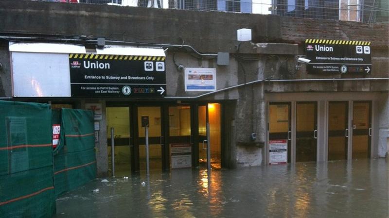TTC Union Station flood