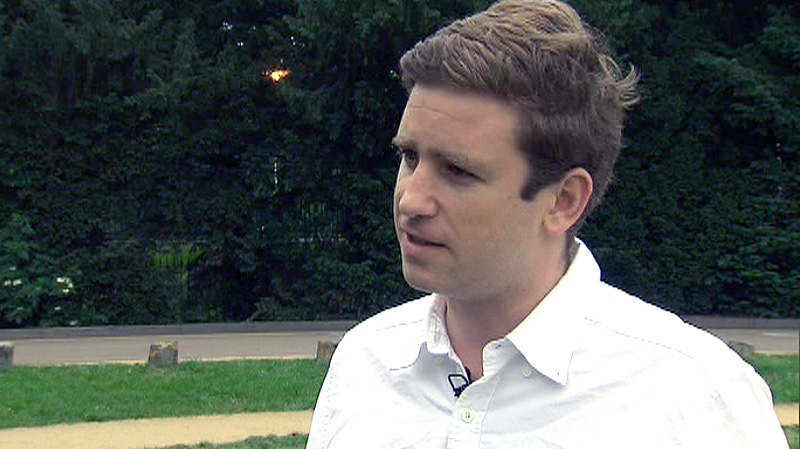 Alex West, a reporter with The Sun, speaks with CTV News in Windsor, U.K. on Friday, June 1, 2012.