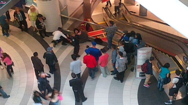 The scene at Toronto's Eaton Centre on Saturday, June 2, 2012.