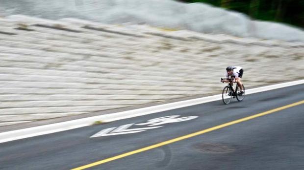 Hitting the hills on Ryder Hesjedal's bike